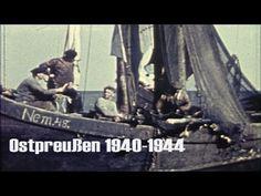 Ostpreußen 1940 im Farbfilm - Kurische Nehrung - Großes Haff - Wanderdün...