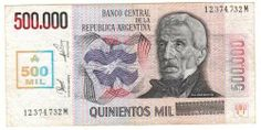 Argentina Billete 500000 Australes 1990 Vf - $ 1,120.00 All Currency, World Coins, Coin Collecting, Baseball Cards, Money, Retro, Paper, Mclaren Mp4, Banknote