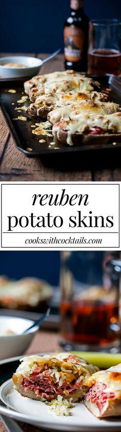 Reuben Stuffed Potato Skins