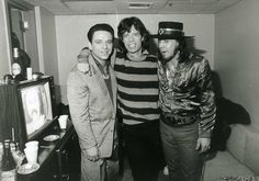Jimmie Vaughan, Mick Jagger and Stevie Ray Vaughan Stevie Ray Vaughan, Eric Clapton, Jimmie Vaughan, Rock Legends, Blues Rock, Music Photo, Mick Jagger, Classic Rock, Music Is Life