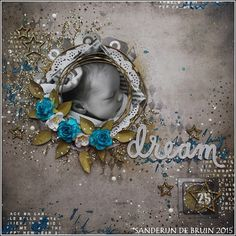 Live. Laugh. Love.: Mixed media layout 'Dream'