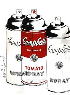 Mr. Brainwash - campbell's spray cans