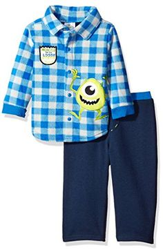 Disney Baby Boys 2Piece Monsters Inc Fleece Set Blue 12 Months ** More info could be found at the image url.Note:It is affiliate link to Amazon.