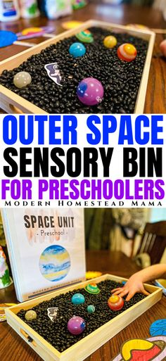 Space Sensory Bin for Preschoolers | Modern Homestead Mama