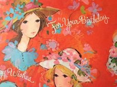 Vintage Gift Wrapping Paper  Ladies in Hats by TheGOOSEandTheHOUND, $6.00