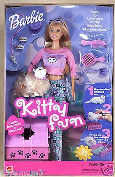 You got different colored sand.. for the cat to pee in.. Weird.. Also her hips were huge and she couldn't fit the other barbie clothes.