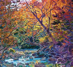Crystal Creek - Contemporary Impressionism Art Gallery in San Diego - Modern Landscape Oil Paintings for Sale by Erin Hanson