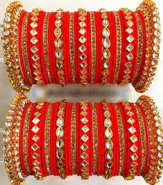 Determing the best rings for your special someone is reasonably hard although if you know where to search and the most recent trend of jewelry these days, it is comparatively easy. Silk Thread Bangles Design, Silk Bangles, Gold Bangles Design, Bridal Bangles, Designer Bangles, Designer Wear, Fancy Jewellery, Thread Jewellery, Fashion Jewellery