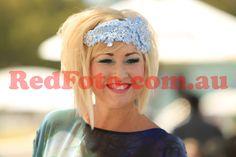 Maxi wearing her lace headpiece Fascinator, Headpiece, Headbands, Bridal, Park, Fun, How To Wear, Design, Fashion
