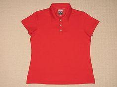 27.09$  Watch now - http://viqcc.justgood.pw/vig/item.php?t=g716y8422817 - Womens Adidas Climacool Short Sleeve SS Golf Polo Shirt M Medium Red Tennis 27.09$