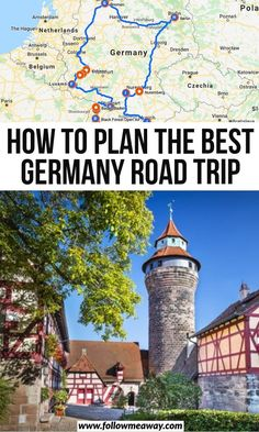Planning a Germany road trip? We've got you covered with an itinerary that will take you to fairytale castles, stunning lakes, Roman ruins and more. Travel Maps, Europe Travel Tips, European Travel, Travel Destinations, Camping Europe, Prague Travel, Travel Abroad, Budget Travel, Travel Ideas