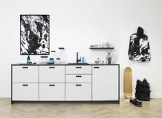When you want to be a bit more daring than just white, the &shufl kitchen in the grey1 colour is great