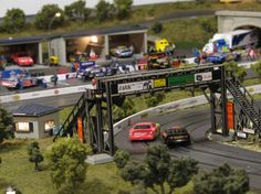 Post with 1578 votes and 182308 views. My dad has been working on this slot car track for the past 15 years. It's finally finished. Ho Slot Cars, Slot Car Racing, Slot Car Tracks, Las Vegas, Cities, Hobby Trains, Bath And Beyond Coupon, Thing 1, Car Videos