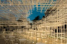 The visionary Japanese architect Sou Fujimoto designed the Serpentine Gallery Pavilion Sou Fujimoto, Japan Architecture, Landscape Architecture, Classical Architecture, Lebbeus Woods, Old Abandoned Houses, All Of The Lights, Toyo Ito, Exterior Lighting
