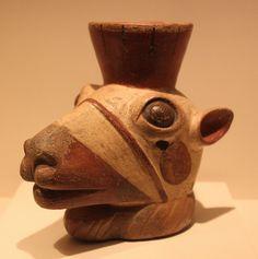 Wari (Huari) Culture Sculpted Vessel Representing Cameloid  --  Circa 800-1300  --  No further reference provided.