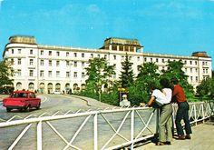 Romania - Sibiu [004] - front   RetROmania #90  Postcard from Romania, Transylvania / Transilvania / Erdély / Siebenbürgen, Sibiu / Nagyszeben / Hermannstadt, featuring FIAT 1300 & ŠKODA 1000MB