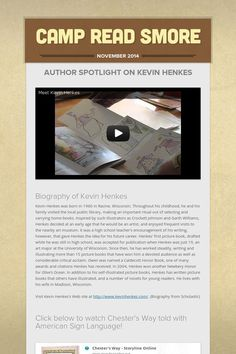Camp Read Smore Kevin Henkes, Author, Camping, Education, Reading, Books, Campsite, Libros, Book
