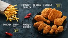 Project: Product photography for new menu and advertising companyClient: Chick'n Box restaurant, London, UKPhotographer and retoucher: Max SmolyarFoodstylist: Natalia BogunArt Director and designer: Igor NechitaylenkoProject manager: Kate Smolyarwww… Food Banner, Ads Creative, New Menu, Fried Chicken, Fries, Food Photography, Spicy, Good Food, London