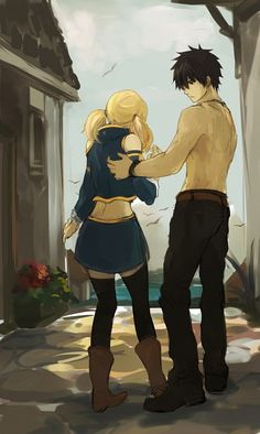 Tags: Anime, Fanart, FAIRY TAIL, Gray Fullbuster, Lucy Heartfilia