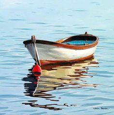 Featured Products – ilkin deniz - The Vehicles Watercolor Landscape, Landscape Art, Landscape Paintings, Watercolor Paintings, Watercolour, Boat Drawing, Sailboat Painting, Seashell Painting, Boat Art