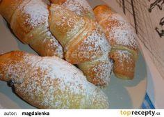 Croissanty s jednoduchou přípravou - Topmoučníky. Czech Desserts, High Sugar, Czech Recipes, Easy No Bake Desserts, 20 Min, Pavlova, Nutella, Sweet Recipes, Sweet Tooth