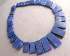 Check out Lapis Beads 102ct Lapis Lazuli Rectangle Beads Cabochon Briolette Genuine Natural Lapis Lapiz Lazuli Beads Set  Free Ship LL3V4A0001 on ungarimpex