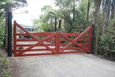 Foothill house gates on lower part of property Garden Gates And Fencing, Fence Gate, Front Gates, Entry Gates, Driveway Entrance, Farm Entrance Gates, Wooden Gates, Wooden Fence, Windows