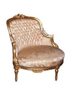 French Louis XVI Style Corner Chair