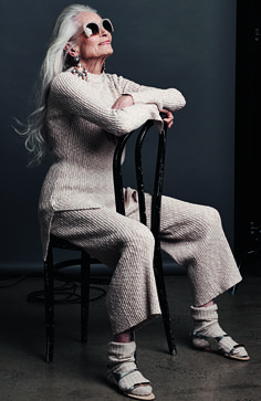 Daphne Selfe is taking part in OPSM's Style At Every Age campaign. Picture: Gary Heery/St