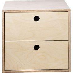 Bloc modulable 3 tiroirs en pin brut leroy merlin - Caisson de rangement leroy merlin ...