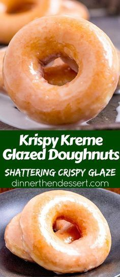 Krispy Kreme Glazed Doughnuts you know and love and now you can make them at hom. Krispy Kreme Glazed Doughnuts you know and love and now you can make them at home and eat them fresh without braving the lines or drive-thru. Homemade Donuts, Diy Donuts, Doughnuts, Homemade Vanilla, Baked Donuts, Homemade Breads, Homemade Glazed Donut Recipe, Dozen Donuts, Making Donuts
