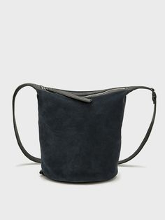Navy Suede Small Dry Bag