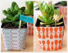 plant wrap stencil.. perfect gift