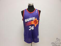 Vtg 90s Champion Phoenix Suns Charles Barkley Basketball Jersey sz 44 Sir NBA #Champion #PhoenixSuns #tcpkickz