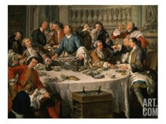 Le Déjeuner D'Huîtres (Oyster Dinner) 1735 (Detail) Giclee Print by Jean Francois de Troy at Art.com