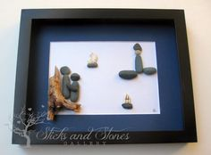 Unique Engagement Gift- Personalized Couple's Gift - Valentine's Day -  Pebble Art - Love Gifts - Nautical Themed Home Decor on Etsy, $80.00 CAD