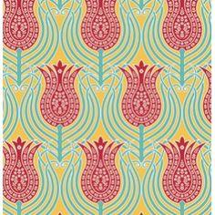 Joel Dewberry Notting Hill Fabric - Tulips - Canary