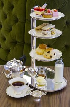 Afternoon Tea at Harrods, London or afternoon tea at your house with our soft grandeur collection. See tea party details at annalouglass.com
