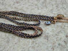 Colar Alfazema azul marinho - Iza Brandt Acessórios