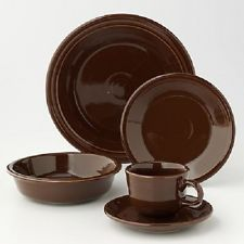 fiestaware five piece place setting brown -  Brown