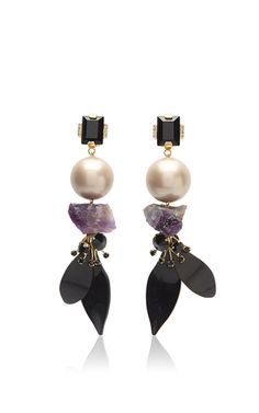 These **Marni** Stass earrings are rendered in glass stone and methacrylic and feature a tri-color geometric design.