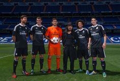 Marcelo, Iker Casillas, Xabi Alonso, Gareth Bale & James Rodriguez - Real Madrid launch their third kit 26th August 2014