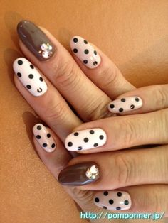 Dots girly nail impressive