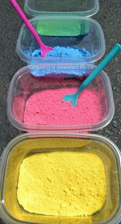 Make your own powdered paint for just one dollar!  There are so many ways to use this homemade paint powder in arts, crafts, play recipes, and sensory play! (click photo for lots of ideas)