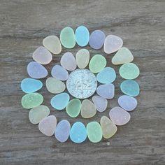 Genuine Beach Sea Glass - Small Pastels -Pink - Yellow - Lavender - UV - Pastel Green - Sky Blue - Aqua