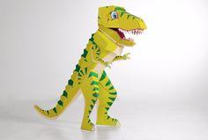 Dino T-Rex SCHULTÜTE - ein echter Dino mit Beinen der selbstständig stehen kann! Der Deckel lässt sich kinderleicht auf- und abnehmen.