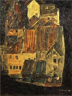 german-expressionists:  Egon Schiele, City on the Blue River, 1910