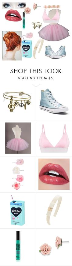 """Elegant"" by rayofdarkness ❤ liked on Polyvore featuring Sweet Romance, Converse, Accessorize, Salvatore Ferragamo, 1928 and Charlotte Russe"