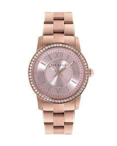 Crystal face watch - Rose Gold | Jewelry & Watches | Ted Baker