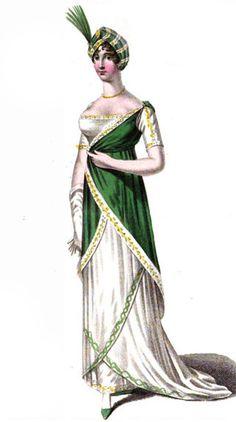 Evening Full Dress, La Belle Assemblée, April 1811
